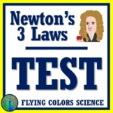 Newton's Laws Test Assessment NGSS Middle School MS-PS2-2 MS-PS2-1