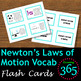 Newton's Laws of Motion Vocabulary Unit Bundle