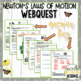 Newton's Laws of Motion Webquest (NGSS aligned)