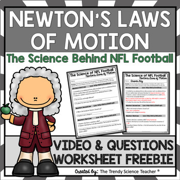 newton s laws of motion worksheet by the trendy science teacher tpt