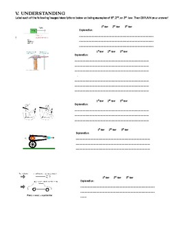 newton 39 s laws of motion worksheet and review by ms science spot tpt. Black Bedroom Furniture Sets. Home Design Ideas