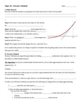Newton's Method Notes