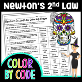 NEWTON'S 2ND LAW SCIENCE COLOR BY NUMBER, QUIZ