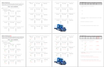 Newton's Second Law Scaffolded Practice Worksheet
