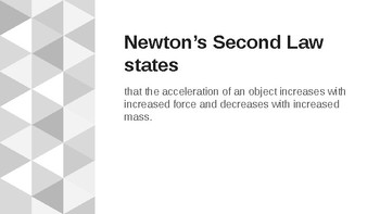 Newton's Second Law of Motion Powerpoint