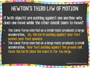 Newton's Third Law Powerpoint with editable text