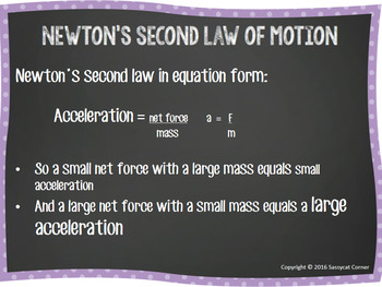 Newton's Second Law Powerpoint with editable text