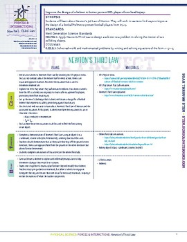 Newton's Third Law - STEM Lesson Plan With Journal Page