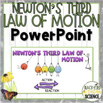 Newton's Third Law of Motion Doodle Notes-Power Point