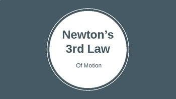 Newton's Third Law of Motion Powerpoint