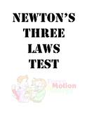 Newton's Three Laws Assessment