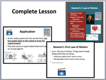 Newton's Three Laws of Motion - Complete 5E Lesson Bundle