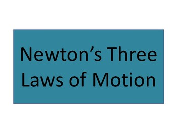 Newton's Three Laws of Motion Posters