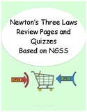 Newton's Three Laws of Motion Review Sheets and Quizzes Ba