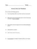 Newton's 1st Law Reading with Questions