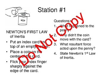 Newton's 1st Law of Inertia Station Lab