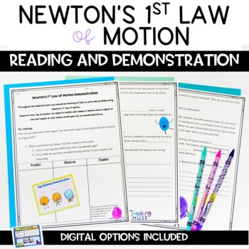 newton s first law of motion nonfiction article and demonstration