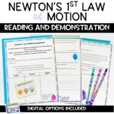 Newton's First Law of Motion Print Digital and Demonstrati