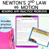 Newton's Second Law of Motion Nonfiction Article and Practice Problems Activity