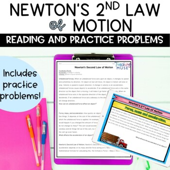newton s second law of motion nonfiction article and practice