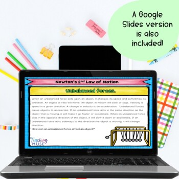 Newton's Second Law of Motion Reading and Practice Activity
