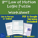 Newton's 2nd Law of Motion F=ma Logic Puzzle + Graphing Worksheet