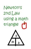 Newton's 2nd law using a math triangle worksheet