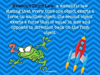 Newton's 3 Laws Posters