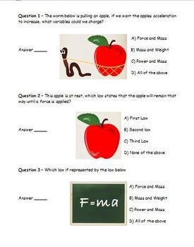 Newton's 3 laws Webquest