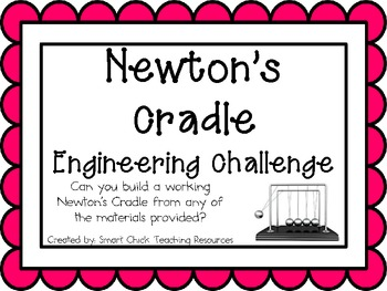 Newton's Cradle: Engineering Challenge Project ~ Great STEM Activity!