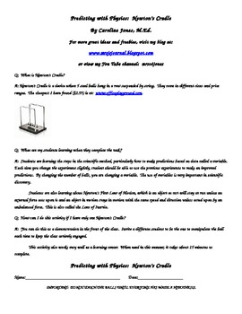 Newton's Cradle:  Making a Hypothesis Using Newton's Laws