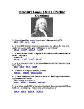 Newton's First Law Problems