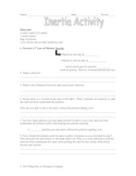 Newton's First Law of Motion Activity/Lab (Inertia)