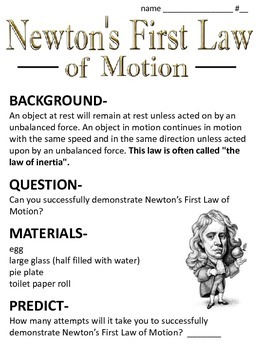 newton 39 s laws of motion worksheet by ms sciencespot tpt newton best free printable worksheets. Black Bedroom Furniture Sets. Home Design Ideas