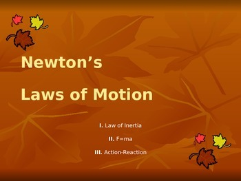 Newton's First Laws of Motion Presentation