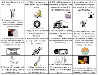 Newton's Laws Sorting Activity