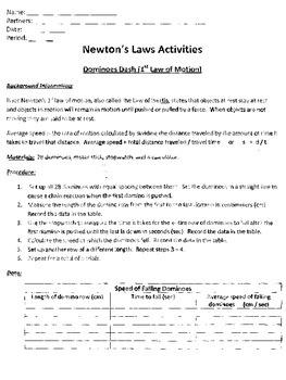 Newton's Laws Lab/ Activities