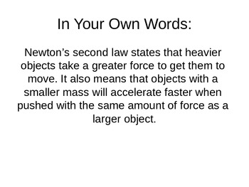 Newton's Laws Powerpoint