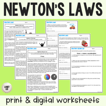 Newton's Laws Practice Identifying in Real Life Situations