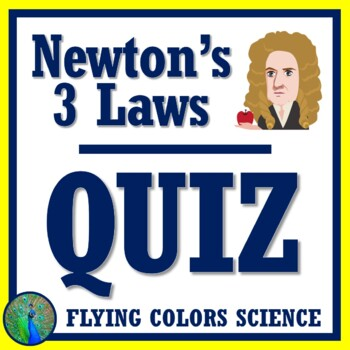Newton's Three Laws of Motion Quiz (middle school) NGSS MS-PS2-2 MS-PS2-1