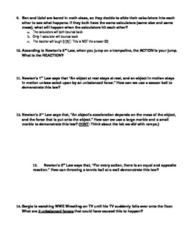 Newton's Laws Test