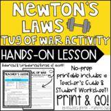 Newton's Laws Tug of War Activity - Balanced and Unbalanced Forces