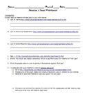 Newtons Laws Webquest