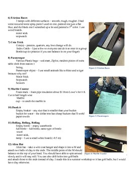 Newton's Laws and Forces Lab Stations