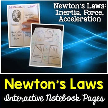 Newton's Laws Interactive Notebook Pages