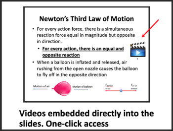 Newton's 3 Laws of Motion Lesson -Lesson Package, Video Assignment and Worksheet