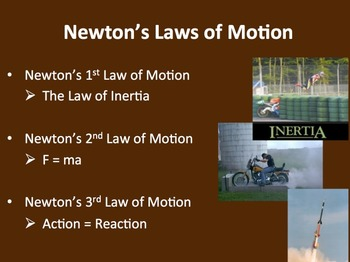 Newton's Laws of Motion - A Physics PowerPoint Lesson & Notes