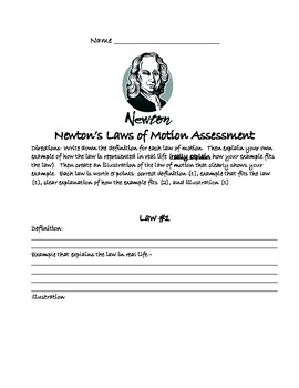 Newton's Laws of Motion Assessment