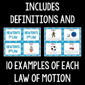 Newton's Laws of Motion Card Sort by The Science Duo | TpT