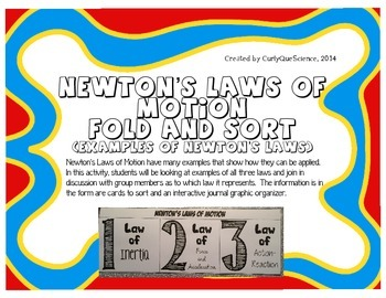 Newton's Laws of Motion Fold and Sort